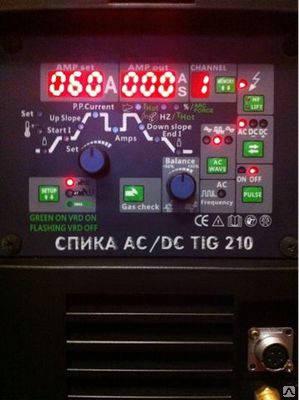 Аргонодугового зварювальний апарат СПІКА AC\DC TIG 210, фото 2