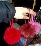 Помпоны из натурального меха кролика , фото 6