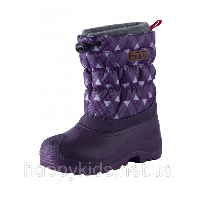 Зимние сапоги - сноубутсы  для девочки Reima 569329,8-5931. Размеры 22/23 - 32/33.