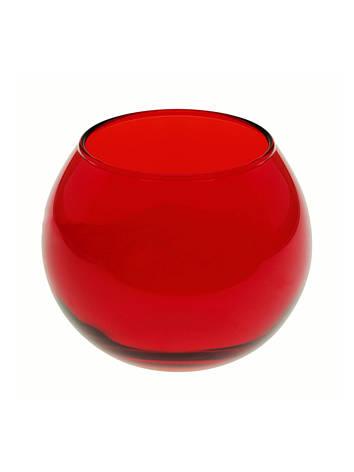 Ваза аквариум красная 100мм Enjoy 1шт 43407_ER, фото 2