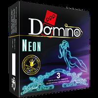 """Презервативы светящиеся в темноте Domino Classic """"Неон"""", 3 шт."""
