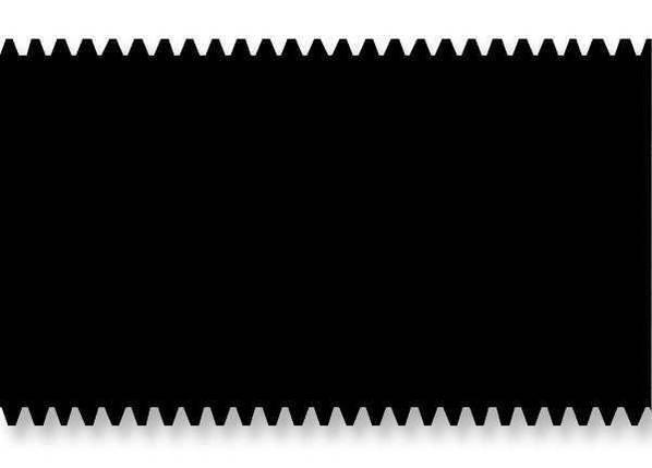 Металева зубчаста пластина 28 см. А3. Зубчатая пластина для нанесения клея. Гребенка, фото 2