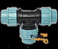 Тройник для ПЭ трубы зажимной ф.25