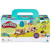 Плей-дох набір пластиліну 20 баночок  по 84 гр. Play-Doh