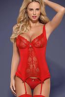 Женское эротическое белье корсет Heartina corset красный