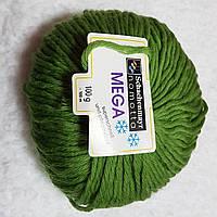 Нитки для вязания шерсть пряжа Зеленая