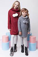 Вязаная туника-платье для девочки, фото 1