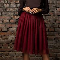Многослойная юбка из фатина 6089 марсала ТМ It Elle 42-44 размеры