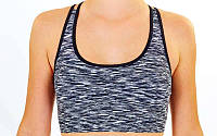 Топ для фитнеса и йоги  (лайкра, L-XL-42-48, серый)
