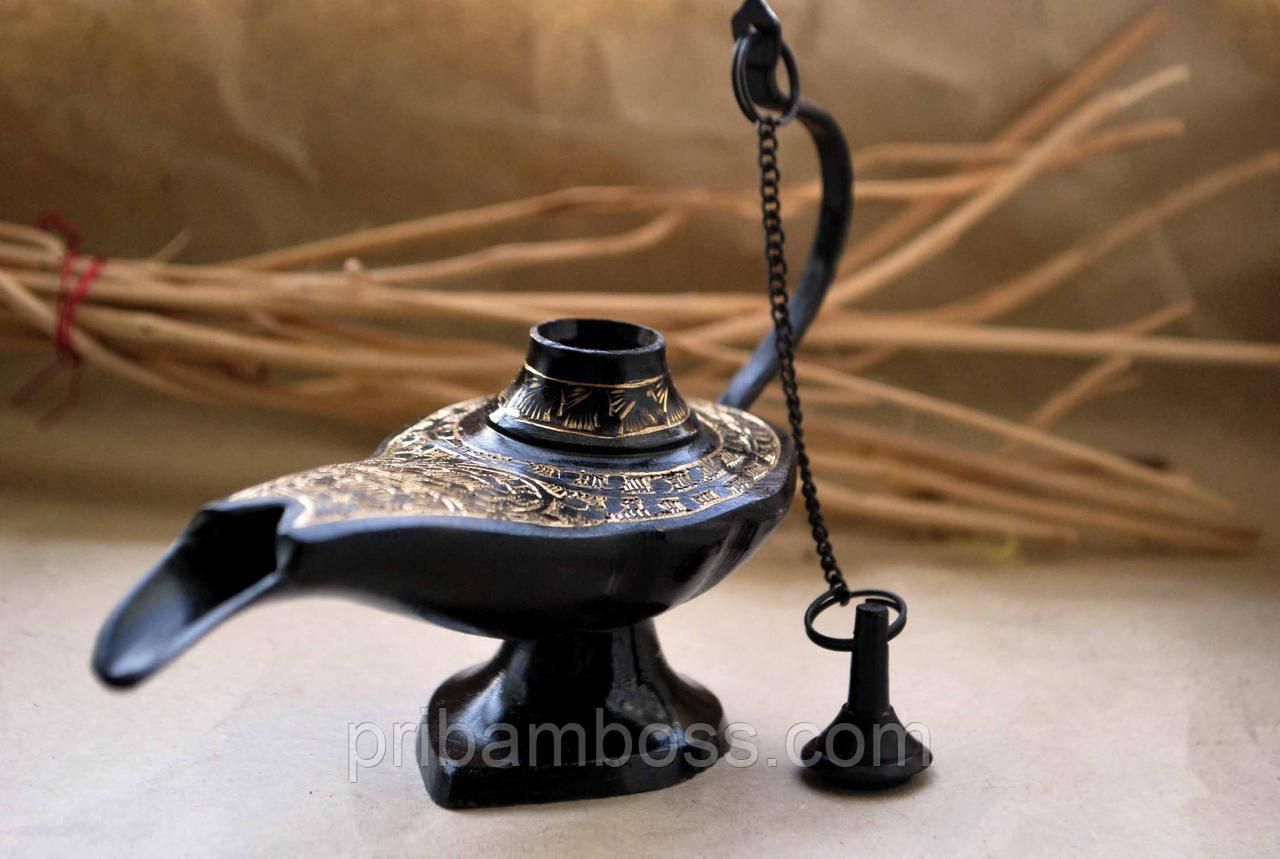 Лампа Алладина бронзовая черная (16х5х10 см)