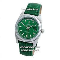 Часы Rolex Day-Date 37mm (механика) Silver/Green. Класс: ААА.