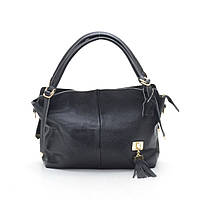 Женская кожаная сумка 606-1 black