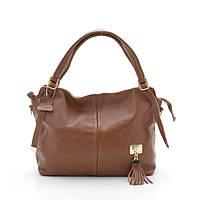 Женская кожаная сумка 606-1 camel