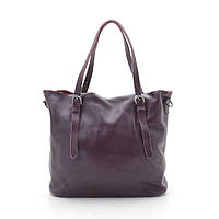 Женская кожаная сумка 6004-2 red wine