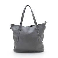 Женская кожаная сумка 6004-2 grey