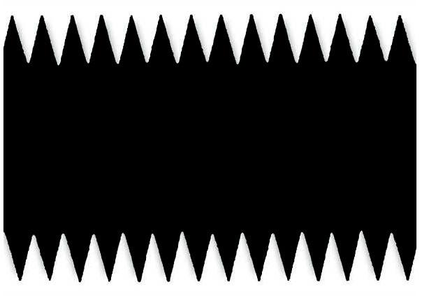 Металева зубчаста пластина 28 см. S9 (4.6х2.8, S=0.2)