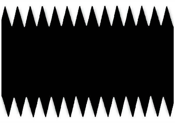 Металева зубчаста пластина 28 см. S9 (4.6х2.8, S=0.2), фото 2