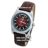 Часы Rolex Day-Date 37mm (механика) Silver/Brown. Класс: ААА.