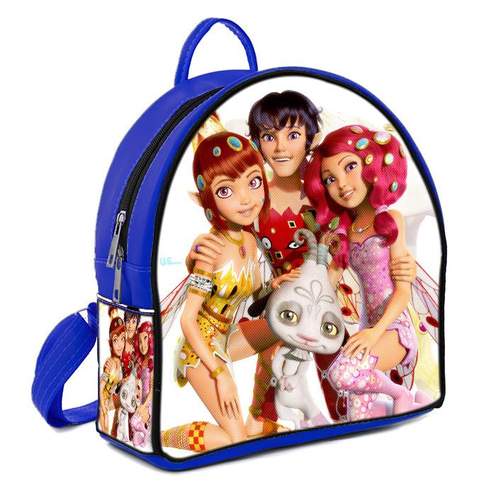 Синий детский рюкзак с принтом Мия и Я