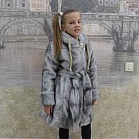 Детская одежда . Шубка меховая (серая), фото 1