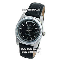 Часы Rolex Day-Date 37mm (механика) Silver/Black. Класс: ААА.