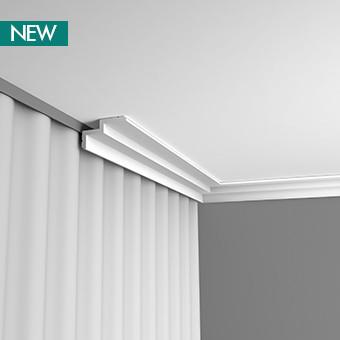 C390 профиль для штор,карнизы для скрытого освещения Orac Decor 200 x 6 x 10 cm
