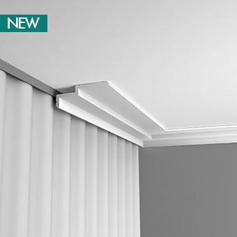 C391 профиль для штор,карнизы для скрытого освещения Orac Decor 200 x 6 x 16 cm