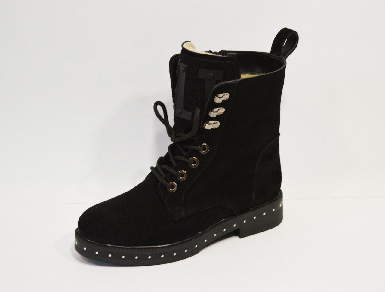 Замшевые женские ботинки Selesta