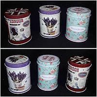 Металлическая коробочка для подарков, цилиндр, выс. 14 см., диам. 10 см., 75 гр.