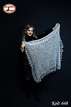 Пуховий платок-паутинка Лаурета 115 см, фото 2