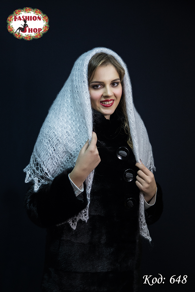 Пуховий платок-паутинка Лаурета 115 см