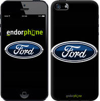 """Чехол на iPhone 5s Ford. Logo v3 """"3112c-21-9076"""""""
