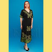 Жіноча літня штапельна сукня з вишивкою в східному стилі №326-2 6a3369f7be2c6