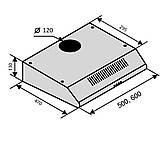 Вытяжка кухонная плоская двухмоторная Ventolux Aldo 60 WH 2M белая, фото 3