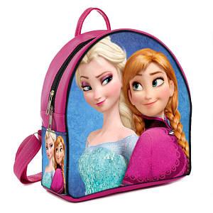 Розовый детский рюкзак с принтом Холодное сердце