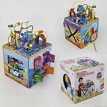 Большой детский кубик-сортер