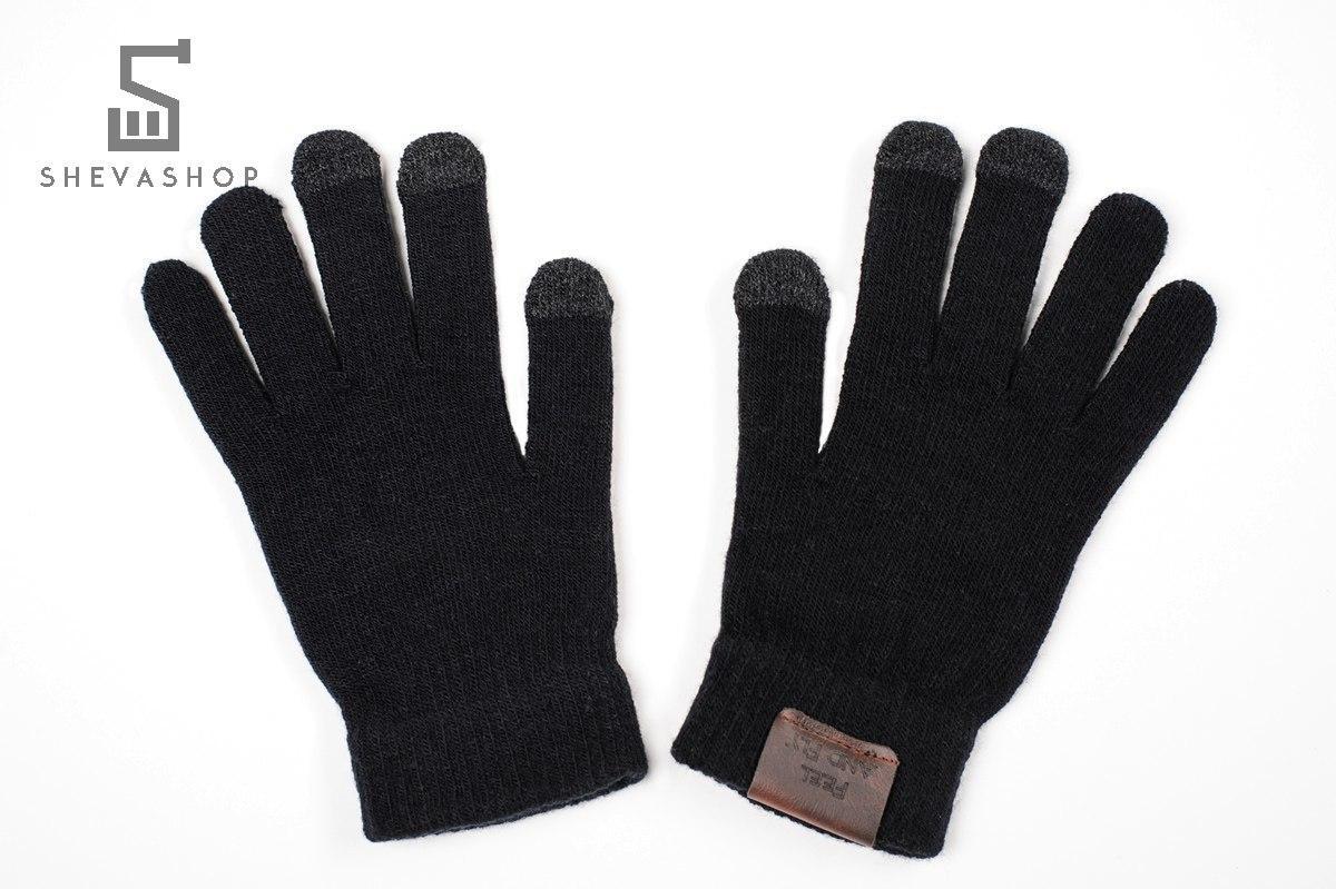 Сенсорные перчатки F&F черные