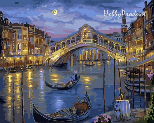 VP041 Набор-раскраска по номерам Большой канал Венеции худ. Финале Роберт, фото 2