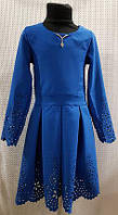 Платье для девочки цвет :электрик р.140-158 ОПТОМ от производителя