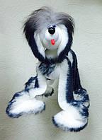Собака маріонетка. Іграшка Маріонетка, на нитках, жива, на хресті, виляє хвостиком, кланяється головою,