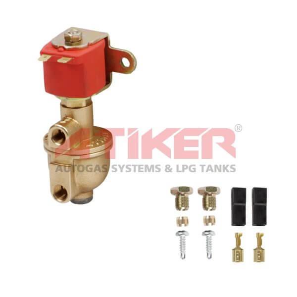 Электромагнитный клапан газа Atiker вход Ø6 (М10х1) выход Ø6 (М10х1) - Газобаллонное оборудование (ГБО) для авто GAS [UA] в Харькове