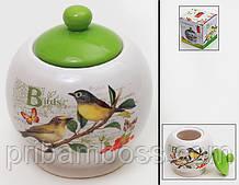 Сахарница керамическая 450мл Птицы