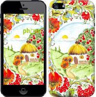 "Чехол на iPhone 5 Украинская хатка ""1598c-18-9076"""