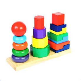 Пирамидки, сортеры, игры на логику