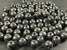 Дерев'яні намистини чорні упаковка 100 шт