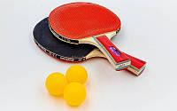 Набор для настольного тенниса 2 ракетки, 3 мяча MK 0204