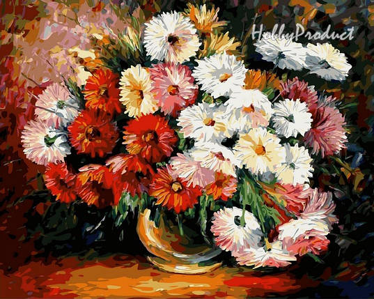 Набор-раскраска по номерам Магия цветов худ. Афремов Леонид, фото 2