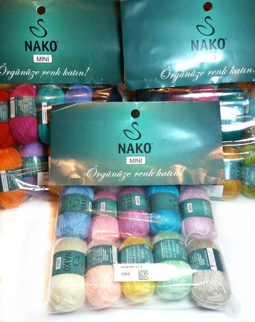 Nako Mini ( 100 % премиум акрил/ 10 грамм/ 36 м / 10 мотков )