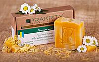 Натуральное мыло «Травяной отвар с пчелиным воском» с отваром чистотела, ромашки, зверобоя, тысячелистника