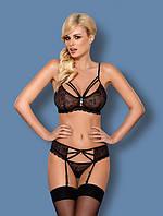 Комплект эротического белья Obsessive 818-SEG-1 SET Черный